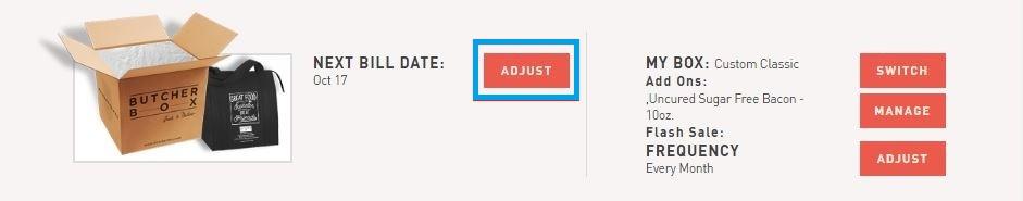 Adjust bill date 1